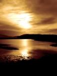 Alaska - Juneau sundown at wetlands
