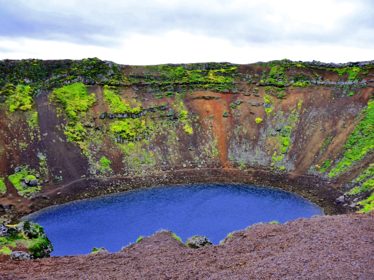 Kerio volcanic crater, Iceland