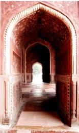 The Red Fort at the Taj Mahal. Photo by Guy Bergstrom.