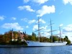 Sweden boat and mansion