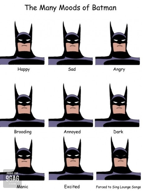 the many moods of batman