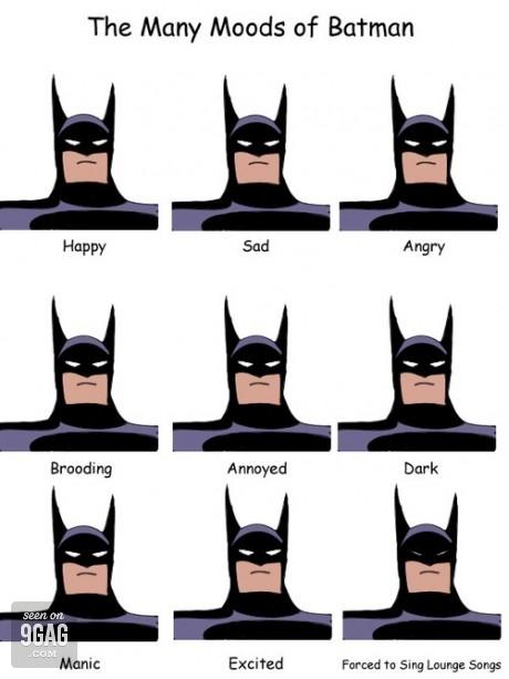 the many moods of batman