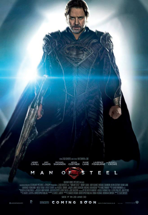 Russell Crowe is surprisingly awesome in MAN OF STEEL. Who knew?