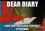 writing meme spiderman dear diary