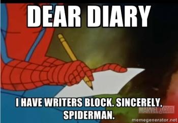 writing meme spiderman dear diary