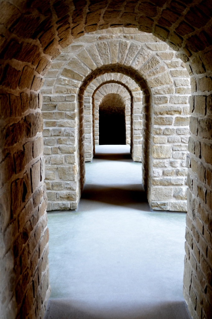 Tunnel below a castle in Luxembourg. Photo by Guy Bergstrom.