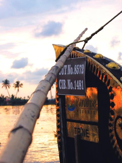 Houseboat in Kerala, India. Photo by Guy Bergstrom.