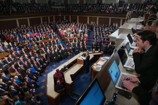 President Barack Obama delivers the State of the Union address in the House Chamber at the U.S. Capitol in Washington, D.C., Jan. 20, 2015. (Official White House Photo By Chuck Kennedy)