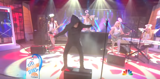 corey feldman dancing and singing